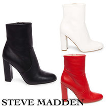 Steve Madden Plain Toe Casual Style Street Style Plain Leather
