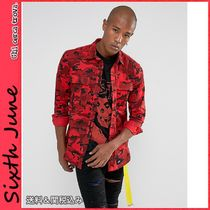 Sixth June Button-down Camouflage Street Style Long Sleeves Cotton