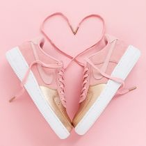 Nike AIR FORCE 1 Casual Style Suede Bi-color Low-Top Sneakers