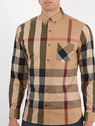 Burberry Shirts Button-down Other Plaid Patterns Long Sleeves Cotton Luxury 9