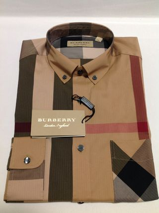 Burberry Shirts Button-down Other Plaid Patterns Long Sleeves Cotton Luxury 18
