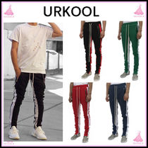 URKOOL Stripes Street Style Cotton Skinny Fit Pants
