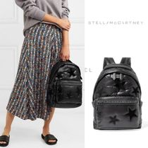 Stella McCartney Star Casual Style Faux Fur Street Style Chain Backpacks