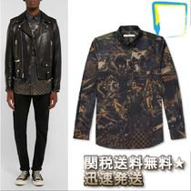 GIVENCHY Camouflage Long Sleeves Cotton Shirts