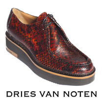 5ce1fd6f98 Dries Van Noten Round Toe Casual Style Leather Python Bold Shoes