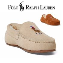 POLO RALPH LAUREN Plain Toe Moccasin Casual Style Suede Shoes
