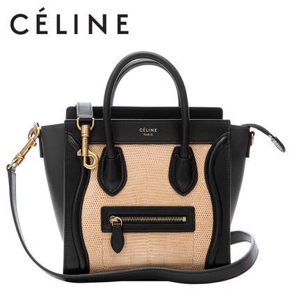 Celine Shoulder Bags Plain Leather Elegant Style