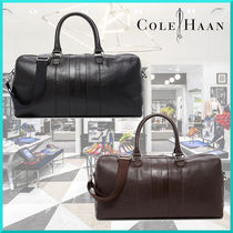 Cole Haan 2WAY Plain Leather Boston Bags