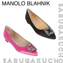Manolo Blahnik Hangisi With Jewels Pumps & Mules