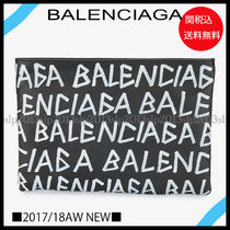 BALENCIAGA Blended Fabrics A4 2WAY Leather Clutches