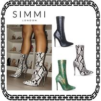 SIMMI Faux Fur Other Animal Patterns Pin Heels Python