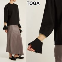 TOGA Crew Neck Wool Long Sleeves Plain Medium Sweaters