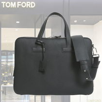 TOM FORD A4 2WAY Plain Leather Business & Briefcases