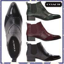 Coach Other Animal Patterns Leather Block Heels Mid Heel Boots