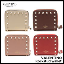 VALENTINO Studded Leather Folding Wallets