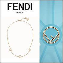 FENDI Costume Jewelry Casual Style Chain Necklaces & Pendants