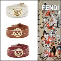 FENDI Costume Jewelry Casual Style Blended Fabrics Street Style