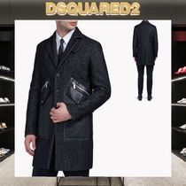 D SQUARED2 Wool Plain Chester Coats