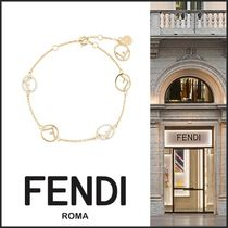FENDI Costume Jewelry Casual Style Blended Fabrics Chain Bracelets