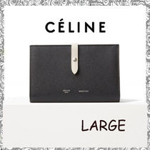 CELINE Strap Calfskin Folding Wallets