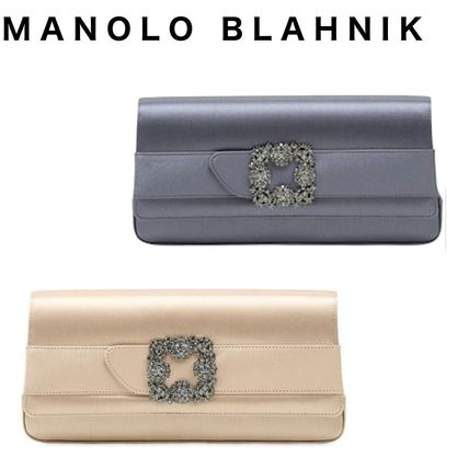 2WAY Plain Elegant Style Clutches