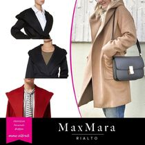 MaxMara RIALTO Plain Medium Elegant Style Wrap Coats
