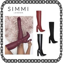 SIMMI Casual Style Faux Fur Plain Other Animal Patterns