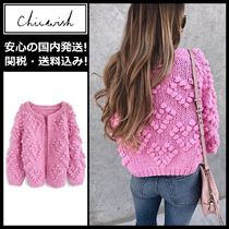 Chicwish Heart Casual Style Long Sleeves Medium Cardigans