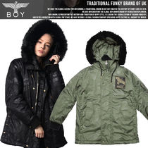 BOY LONDON Casual Style Studded Medium MA-1 Bomber Jackets