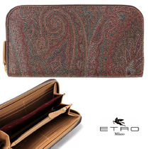 ETRO Paisley Faux Fur Long Wallets