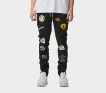 I LOVE UGLY Tapered Pants Street Style Plain Cotton Jeans & Denim