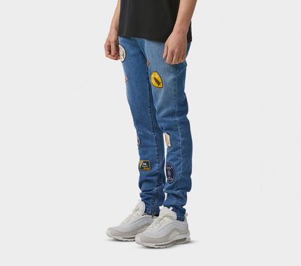 I LOVE UGLY Street Style Plain Cotton Joggers Jeans