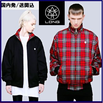 Other Check Patterns Unisex Street Style Jackets