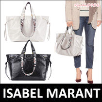 Isabel Marant Casual Style A4 2WAY Plain Leather Totes