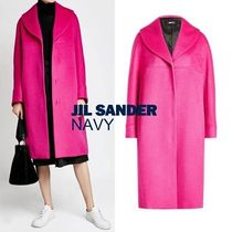 Jil Sander Wool Plain Long Coats
