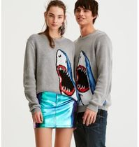 PULL & BEAR Casual Style Other Animal Patterns Oversized Sweaters