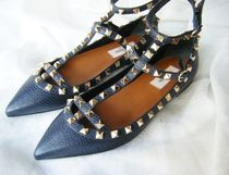 VALENTINO Studded Plain Ballet Shoes