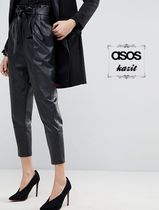 ASOS Casual Style Leather Leather & Faux Leather Pants