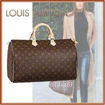 Louis Vuitton SPEEDY Monogram Canvas Blended Fabrics A4 Boston & Duffles