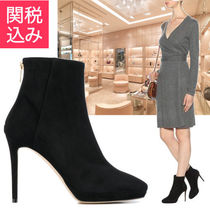 Jimmy Choo Casual Style Suede Plain Pin Heels Ankle & Booties Boots