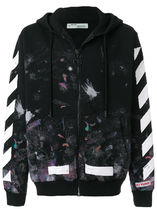 Off-White Unisex Street Style Hoodies