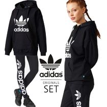 adidas Street Style Long Sleeves Plain Cotton Medium