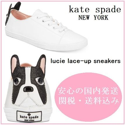 8f49842df0a7 ... kate spade new york 2017 18AW Round Toe Casual Style Suede Other