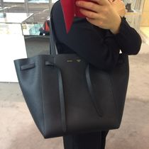 CELINE Cabas Phantom A4 Plain Leather Totes
