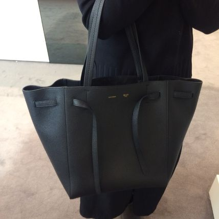 offer discounts select for newest promo code CELINE Cabas Phantom 2018-19AW A4 Plain Leather Totes