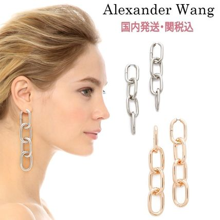 Casual Style Chain Earrings & Piercings