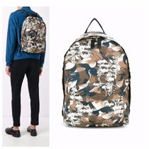 ETRO Camouflage A4 Leather Backpacks