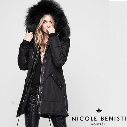 Nicole Benisti Down Jackets Fur Plain Medium Down Jackets