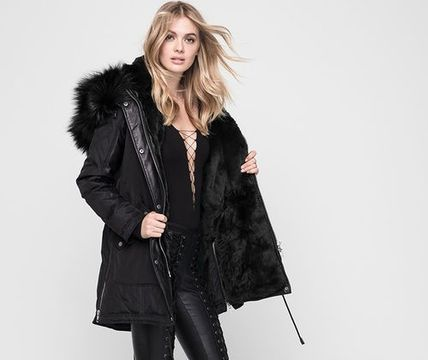 Nicole Benisti Down Jackets Fur Plain Medium Down Jackets 2