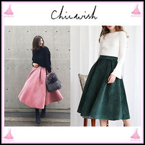 Chicwish Flared Skirts Long Elegant Style Maxi Skirts